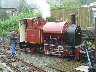 Corris Railway - The Corris Railway's own steam locomotive, No. 7, at Corris on 28 October 2006