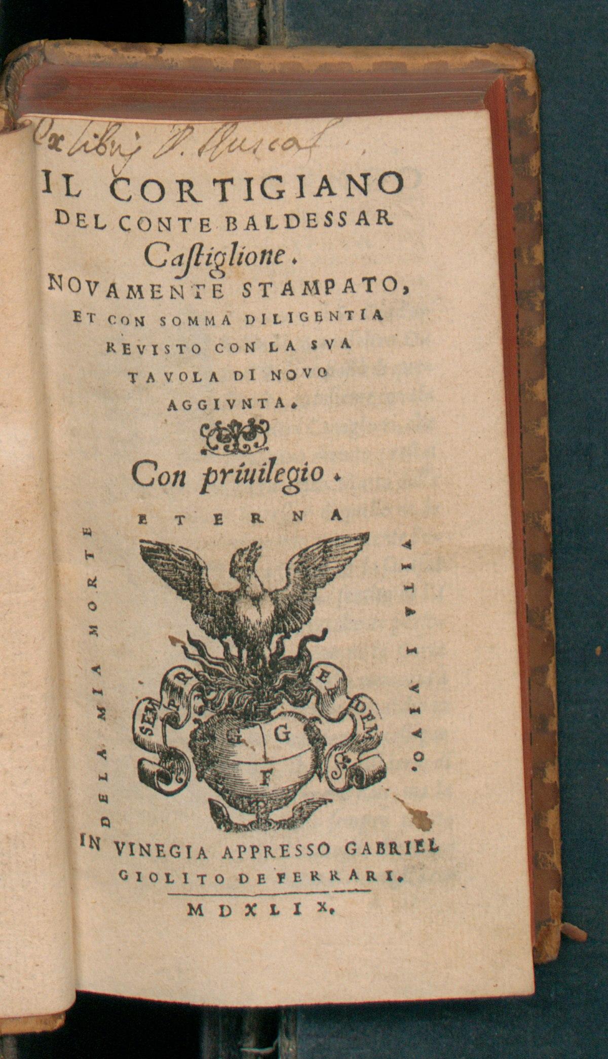 La Mia Casa Group the book of the courtier - wikipedia