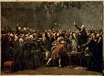 Painting of the Tennis Court Oath by Auguste Couder