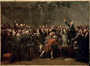 The Tennis Court Oath (David) - The Tennis Court Oath by Auguste Couder, 1848.