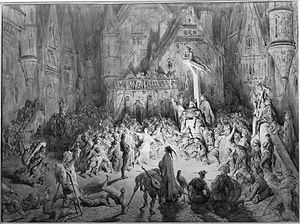 Esmeralda (opera) - The Court of Miracles depicted in an illustration by Gustave Doré for The Hunchback of Notre-Dame