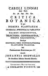 <i>Critica Botanica</i>