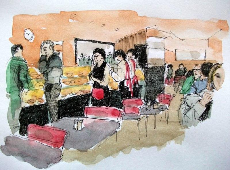 File:Croquis aquarellé- Café à Faro - Portugal (6888229188).jpg