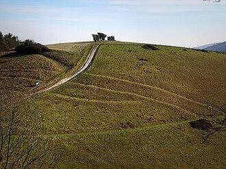Cross dyke - Multivallate cross dyke on Pen Hill, on the South Downs in West Sussex