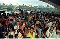 Crowd - Dinosaurs Alive Exhibition - Science City - Calcutta 1995-June-July 530.JPG