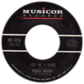 Cry Me a River by Marie Knight US single side-A catalog number on left.png