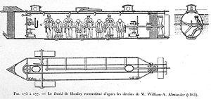 Css hunley cutaway