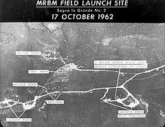 Záber rozmiestnenia striel na Kube 17. októbra 1962