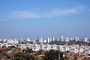 View of Cuiabá, Mato Grosso, Brazil. Português...