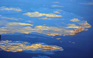 Cumberland Peninsula - Cumberland Peninsula of Baffin Island, aerial photo by Doc Searls.