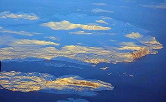 Cumberland Peninsula - Cumberland Peninsula of Baffin Island, aerial photo by Doc Searls.