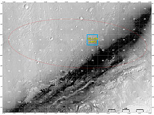 "Bradbury Landing - ''Curiosity'' Rover Landing Site - ""Quad Map"" includes ""Yellowknife"" Quad 51 of Aeolis Palus in Gale Crater."