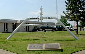 Cushing, Oklahoma - Pipeline Crossroads of the World monument (2006)