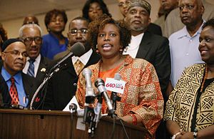 Cynthia McKinney - Cynthia McKinney speaking to the press in 2006