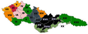 Czechoslovak parliamentary election, 1929 - Most voted party per electoral district