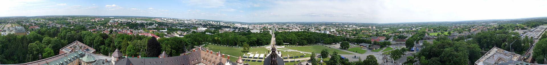 Panorama z wieży jasnogórskiej