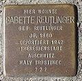 D-BW-ES-Kirchheim unter Teck - Stolperstein 'REUTLINGER, Babette'.jpg