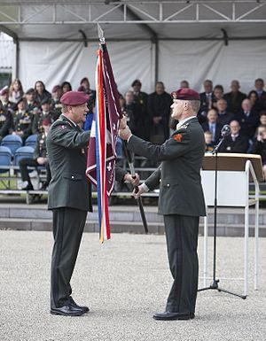 11th Airmobile Brigade (Netherlands) - Change of command from brigade-general Otto van Wiggen to brigade-general Nico Geerts