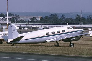 De Havilland Australia DHA-3 Drover - Drover 3B, with Lycoming O-360 engines, at Bankstown Airport in 1970