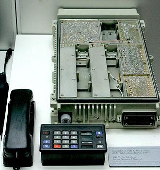 Car phone - AEG 4015C telephone for the German B Network ca. 1979