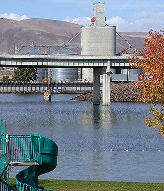 Arlington, Oregon - Park in Arlington, looking towards the Columbia River