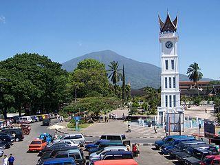 Bukittinggi City in West Sumatra, Indonesia