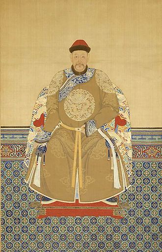 Daišan - Portrait of Daišan by an unknown Qing dynasty painter