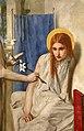 Dante gabriel rossetti, ecce ancilla domini (annunciazione), 1849-50, 03 vergine.jpg