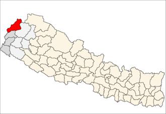 Darchula District - Location of Darchula