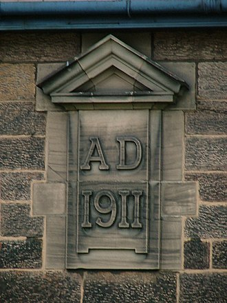 Datestone - A datestone on Knypersley First School