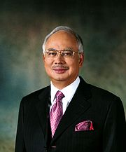 an official photo of current prime minister Najib Tun Razak.