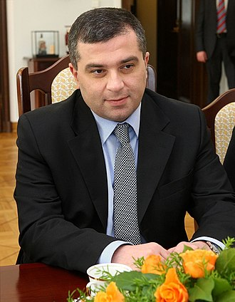 2016 Georgian parliamentary election - Image: David Bakradze Senate of Poland 010