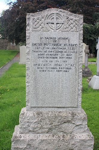 David Fleming, Lord Fleming - David Pinkerton Fleming's grave, Dean Cemetery