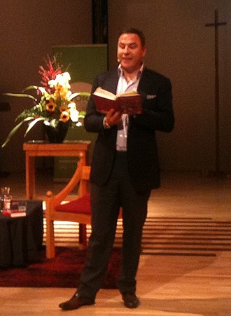 David Walliams - Walliams in 2015, reading one of his books to an audience in New Zealand, as part of the WORD Christchurch festival.
