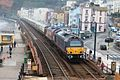 Dawlish Collonade Viaduct - DB Cargo 67006+67022 up Pullman.JPG