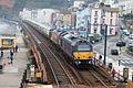 Dawlish Collonade Viaduct - DB Cargo 67006+67022 up Pullman.JPG