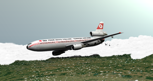 A CGI rendering of Turkish Airlines Flight 981...