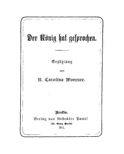 File:De Der König hat gesprochen (Woerner).pdf