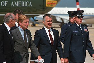 Miguel de la Madrid - President de la Madrid arriving at Andrews Air Base, Maryland.