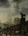 De opgang naar het Kapitool met de schimmel van de nieuw gekozen paus Rijksmuseum SK-A-3973.jpeg