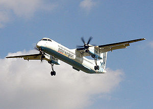Regional airliner - A Flybe Bombardier Q400
