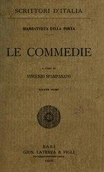 Giovanni Battista Della Porta: Le commedie