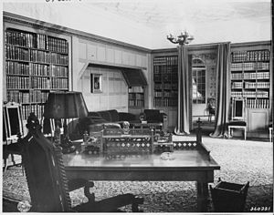 Desk and office library of President Harry S. ...