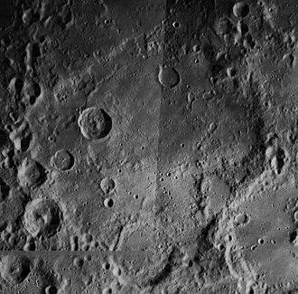 Deslandres (crater) - Mosaic of Lunar Orbiter 4 images