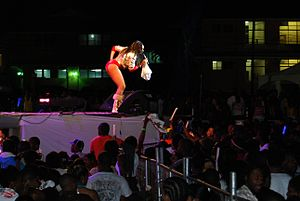 Destra Garcia - Destra performing at UWI Splash in St. Augustine
