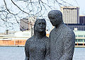 Detail of Knights of Columbus Peace Monument, Windsor, Ontario, 2014-12-07.jpg