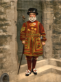 Detroit Publishing Co. - A Yeoman of the Guard (N.B. actually a Yeoman Warder) - partial restoration.png
