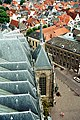 Deventer, view from tower of the Lebuïnuskerk to the church.jpg