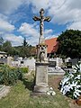 Diás cemetery, Németh-Fáró crucifix (1892) in Gyenesdiás, 2016 Hungary.jpg