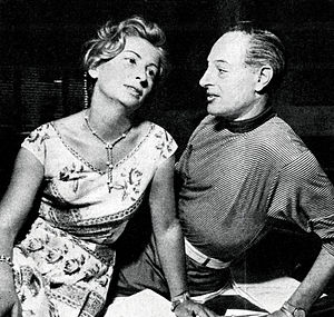 Tino Bianchi - Bianchi with the actress Diana Torrieri (1956)